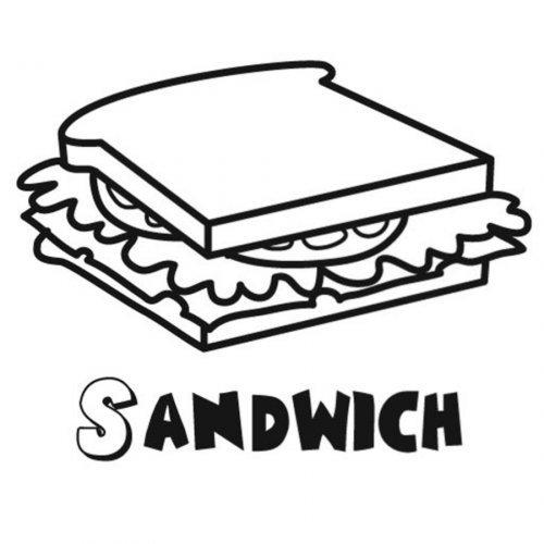 Dibujo de sándwich para colorear