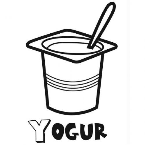 Dibujo de un yogur para colorear