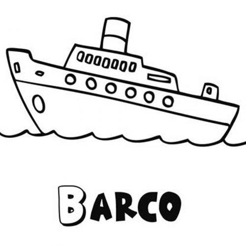 Dibujo para imprimir y colorear un barco