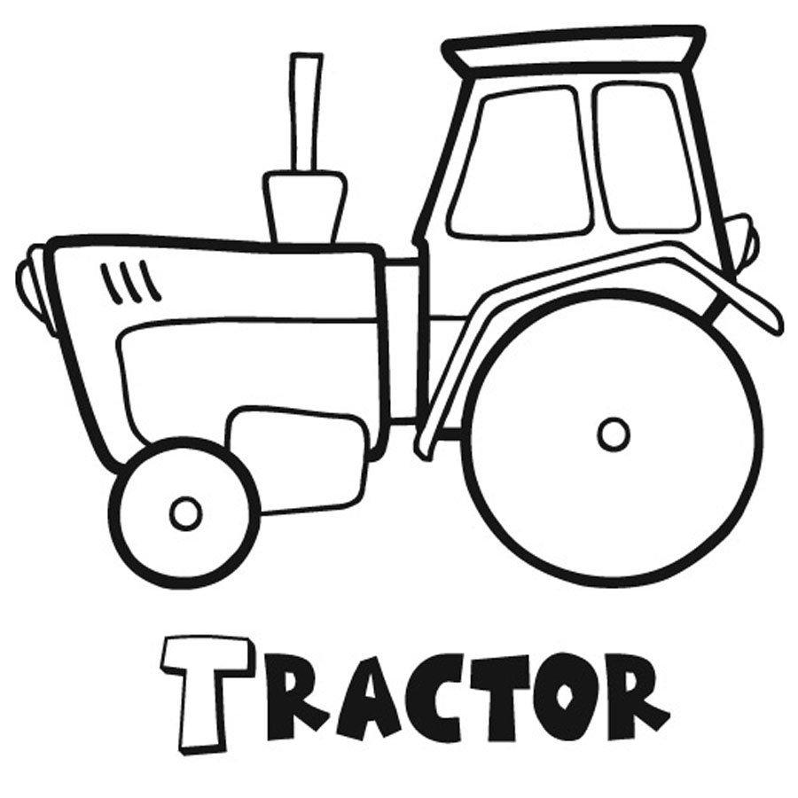 Dibujo de un tractor para imprimir y pintar
