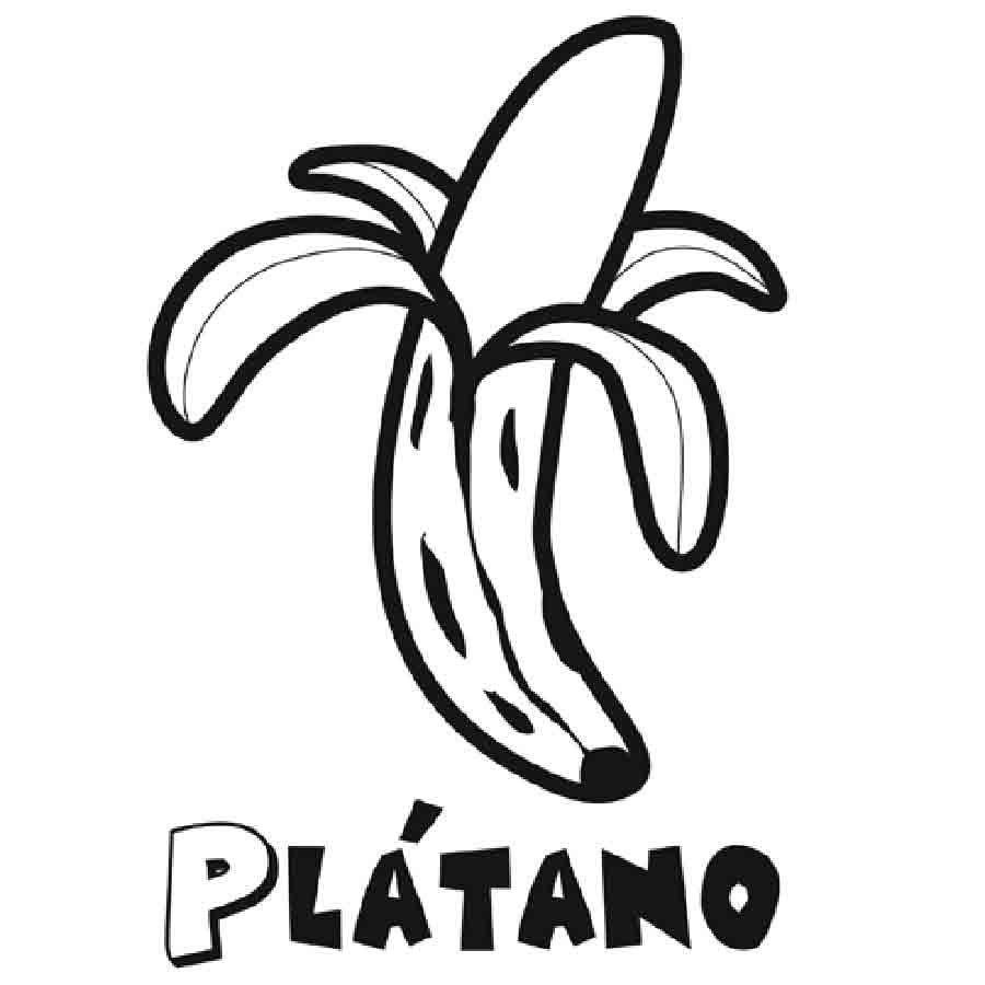Dibujo para pintar de un plátano