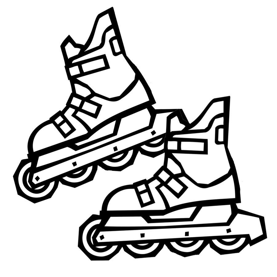 Dibujo de patines de ruedas para pintar