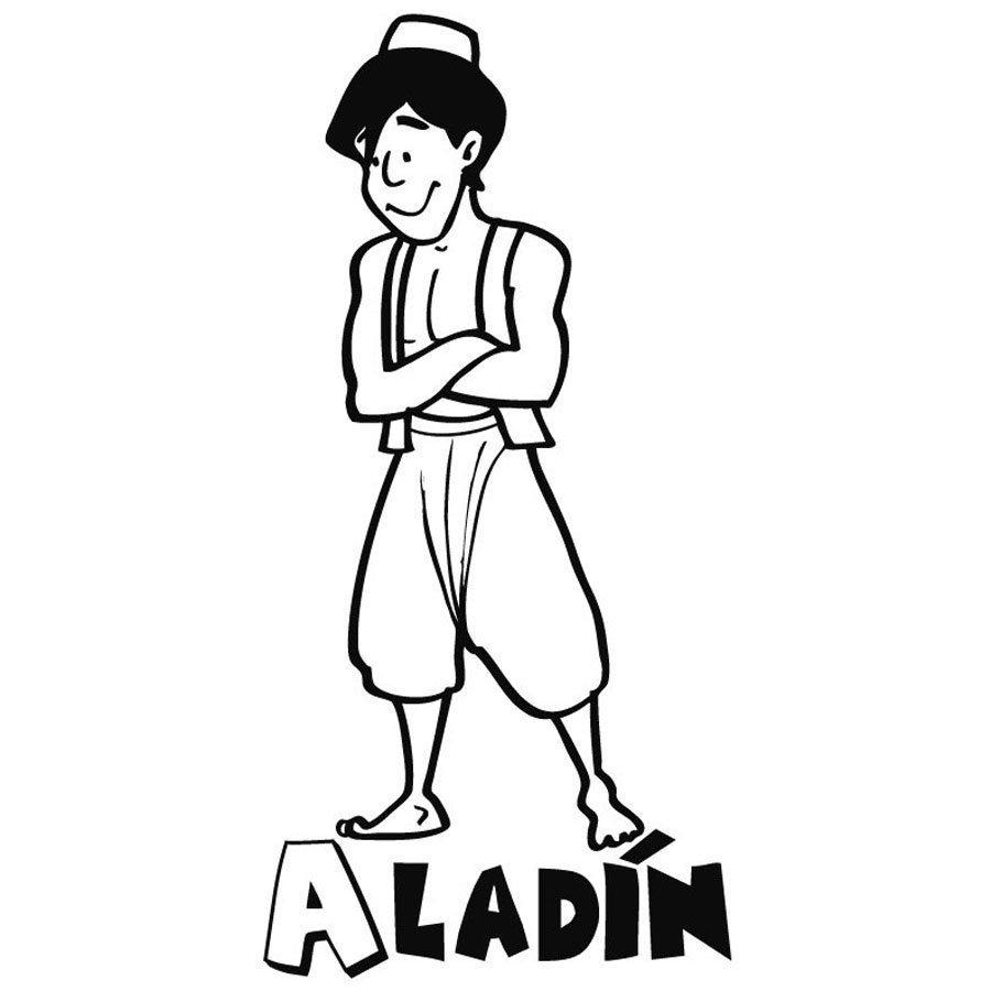 Dibujo para colorear de Aladdín
