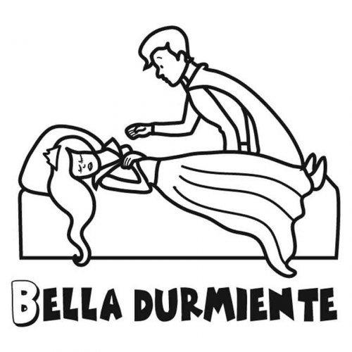 Dibujo de la Bella Durmiente para colorear