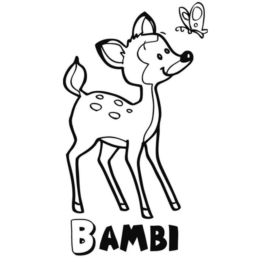 Dibujo de Bambi para imprimir y colorear