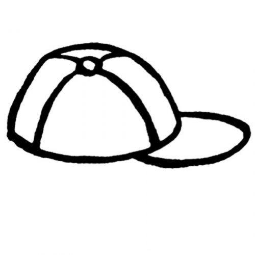 Dibujo para imprimir y colorear una gorra