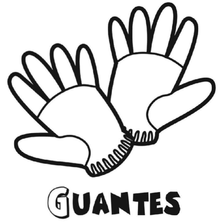 Dibujo para colorear de un par de guantes