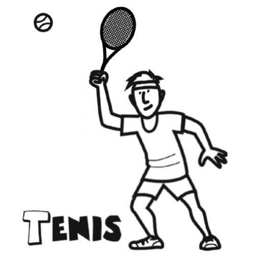 Dibujo de tenis para imprimir y pintar