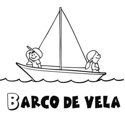Dibujo de barco de vela para colorear