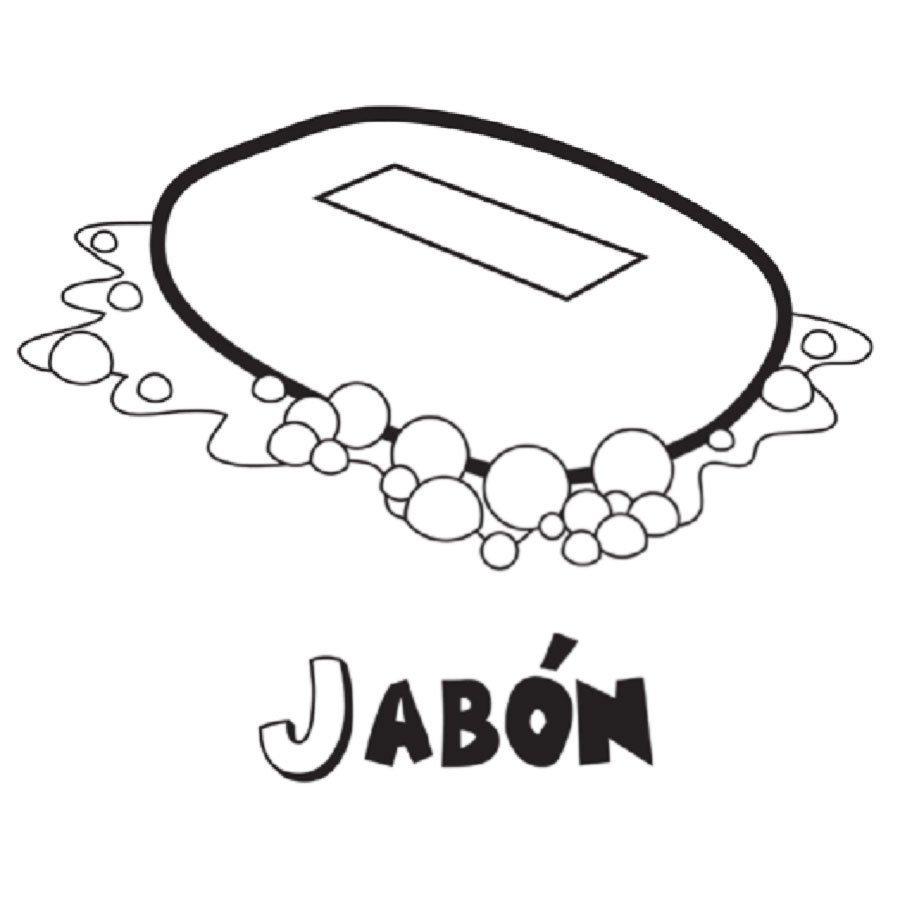Dibujo para imprimir y colorear de jabón