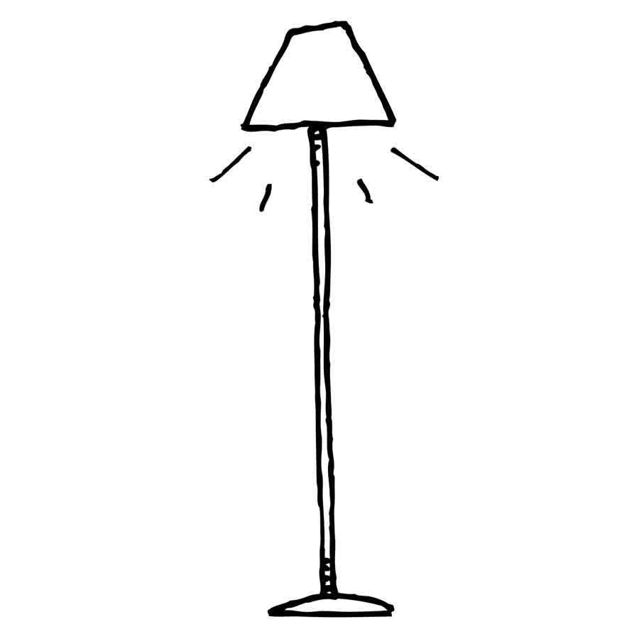 Dibujo de una lámpara para imprimir y colorear