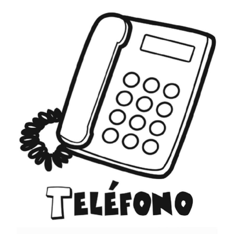 Dibujo de un teléfono para imprimir y pintar