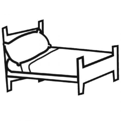 Dibujo de una cama para imprimir y pintar