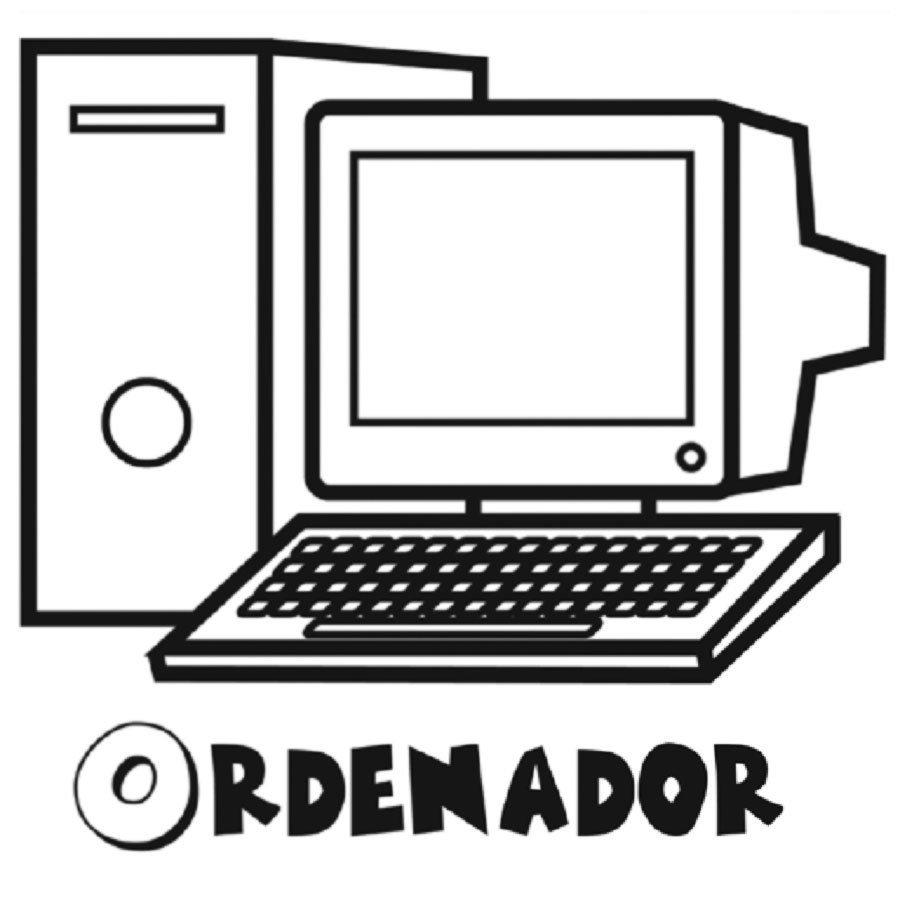 Dibujo de un ordenador para colorear