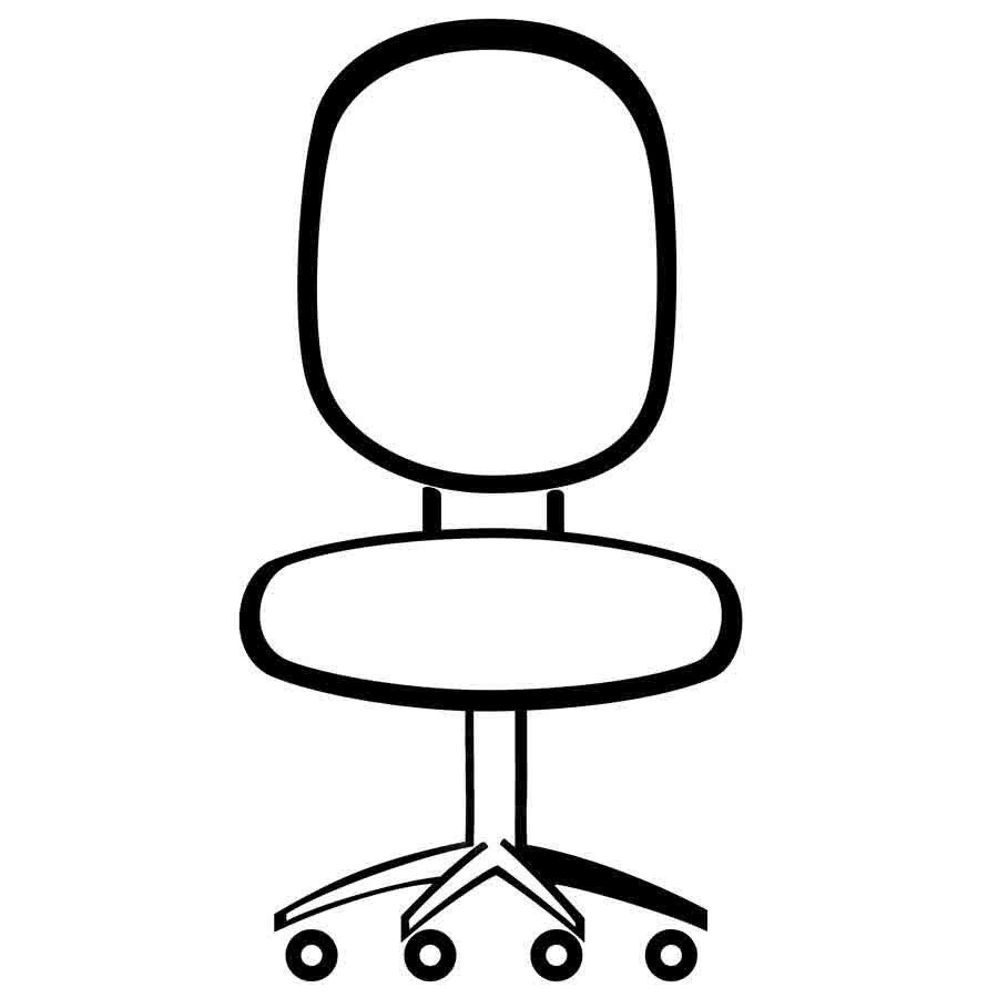 Dibujo de una silla de oficina para pintar