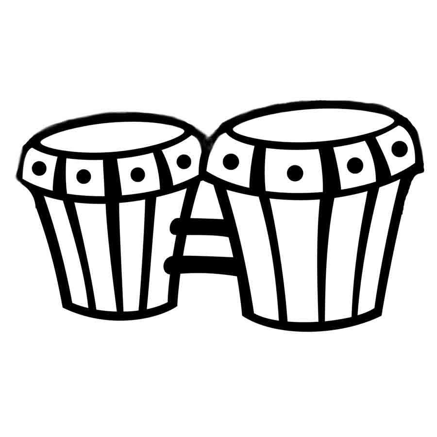 Dibujo para imprimir y colorear unos bongos