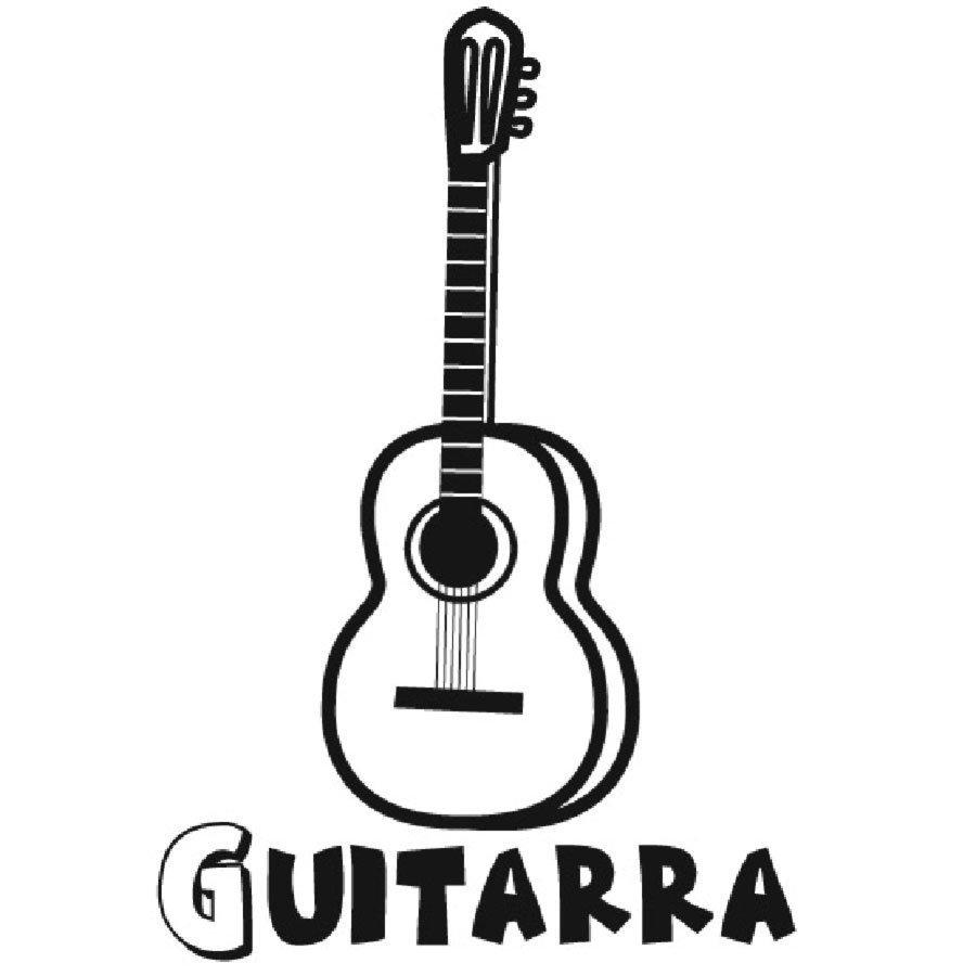 Dibujo de una guitarra para colorear