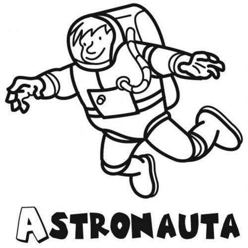 Dibujo de un astronauta para colorear