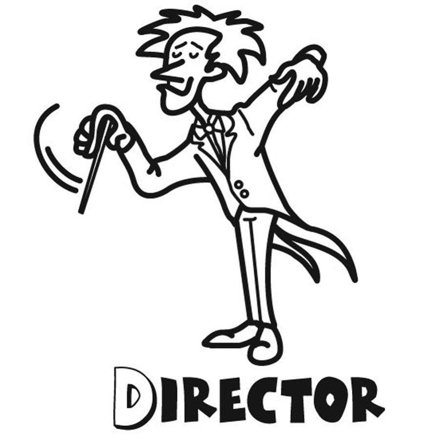 Dibujo para pintar de director de orquesta