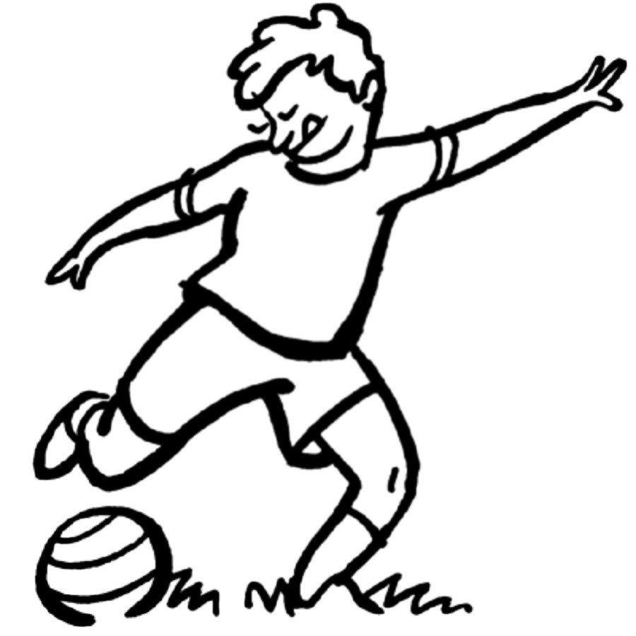 Dibujo de futbolista para imprimir y colorear