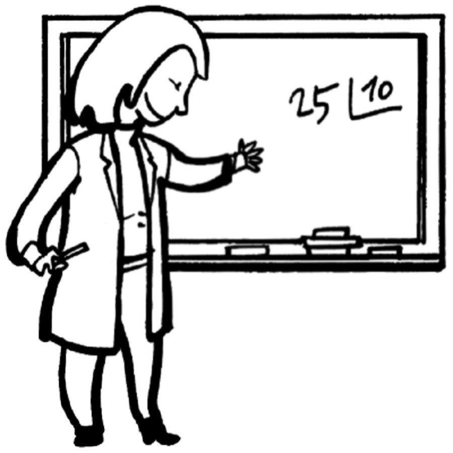 Dibujo para pintar de una profesora