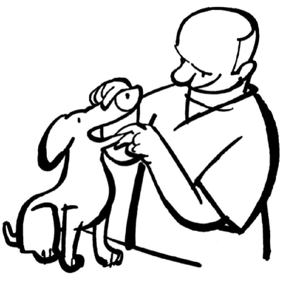 Dibujo de un veterinario para colorear