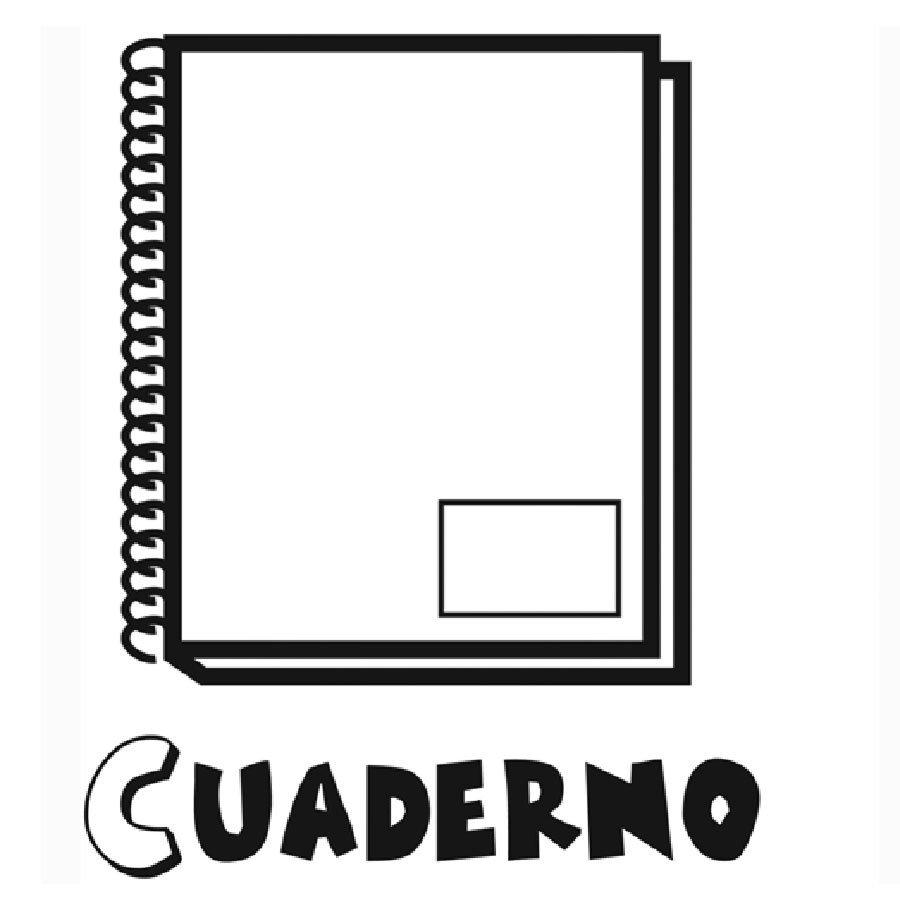 Dibujo para imprimir y pintar de un cuaderno