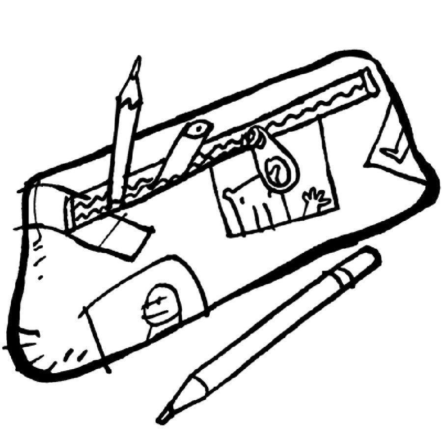 Dibujo de un estuche para pintar