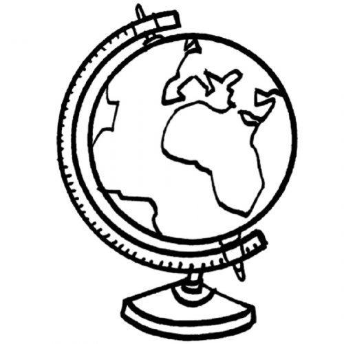Worksheet. Dibujo para colorear de un globo terrqueo  Dibujos para colorear