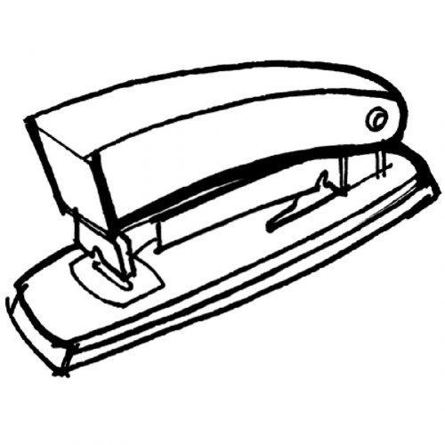 Dibujo de una grapadora para imprimir y pintar - Dibujos para ...