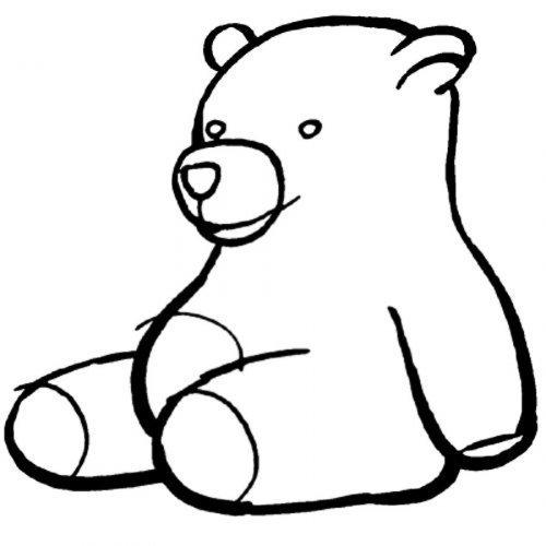 Dibujo para pintar de un oso de peluche