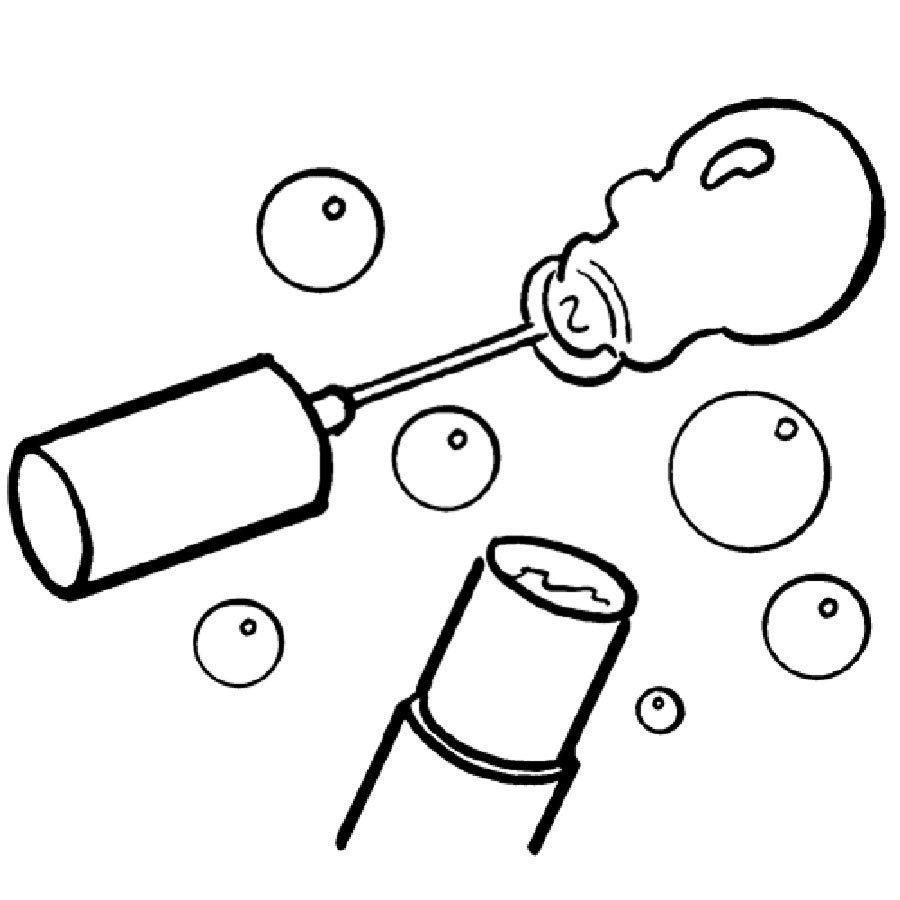Dibujo de pompas de jabón para pintar