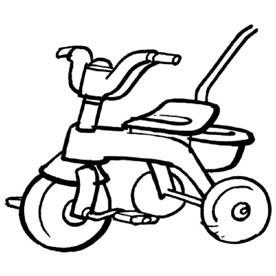 Dibujo de un triciclo para imprimir y pintar