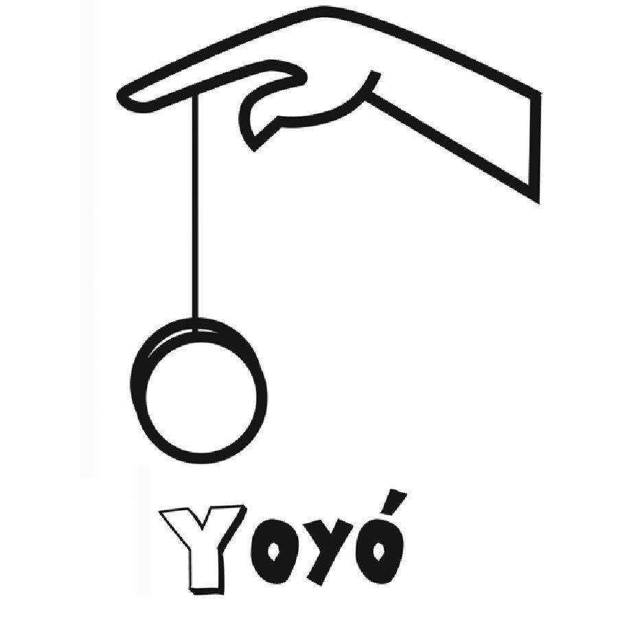 Dibujo para imprimir y colorear de un yoyó