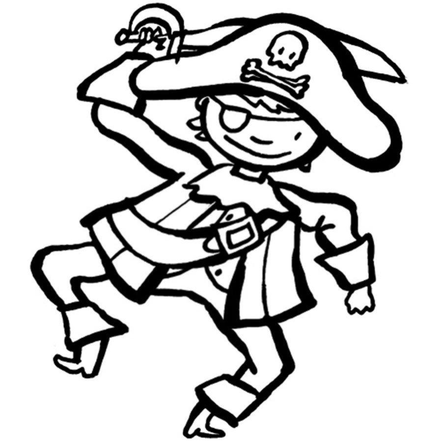 Dibujo de un pirata para pintar
