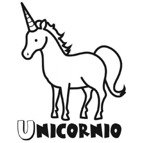 Dibujo para colorear de un unicornio