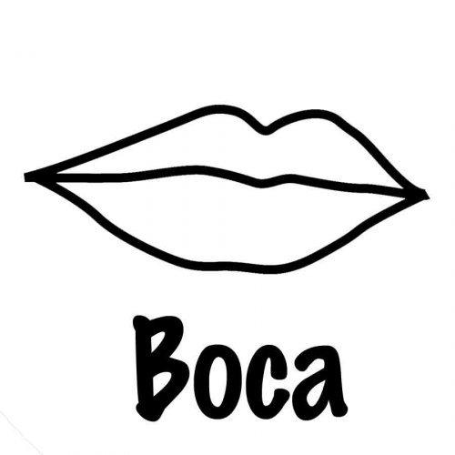 Dibujo de una boca para imprimir y colorear  Dibujos para