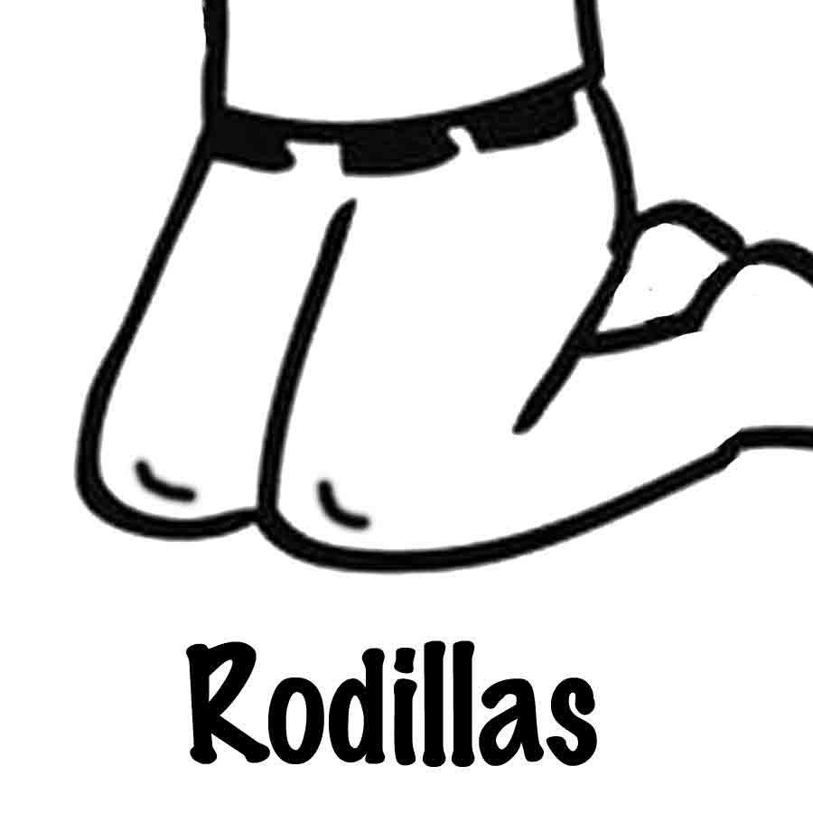 Dibujo para pintar de unas rodillas