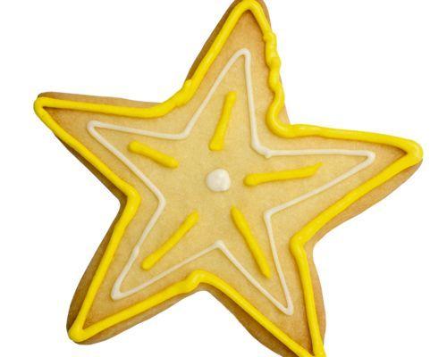 Estrellas fugaces de galleta
