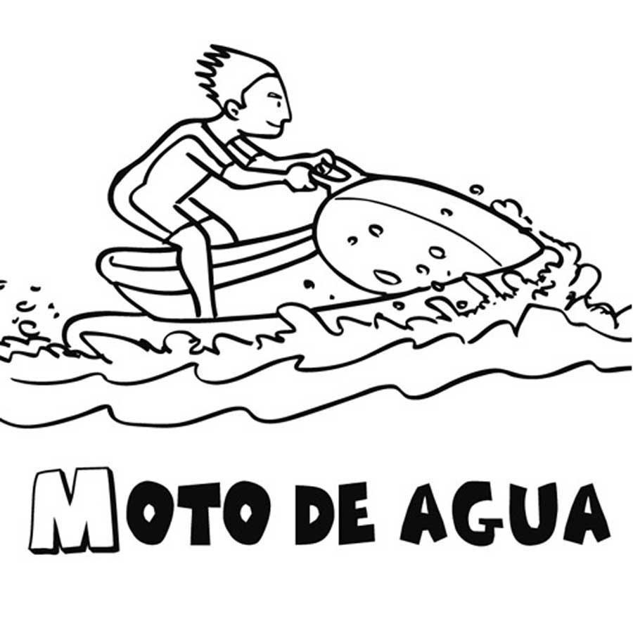 Dibujo Para Colorear De Una Moto De Agua