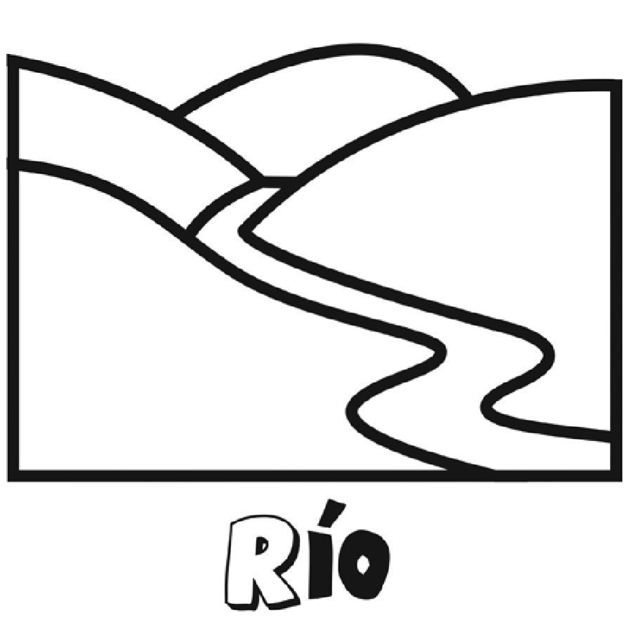 Dibujo Para Imprimir Y Colorear De Un Río