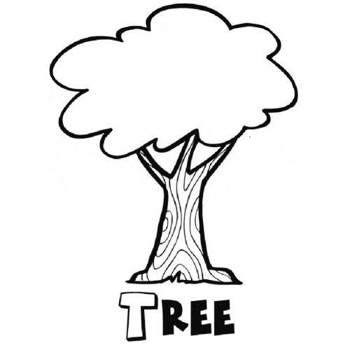 Dibujo De Un árbol Para Imprimir Y Colorear