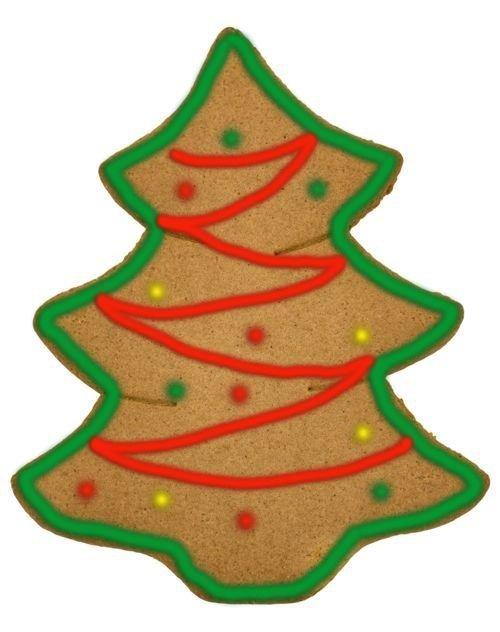 Árbol de Navidad decorado de galleta