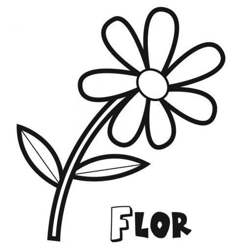 Dibujo de una flor para imprimir y colorear for Plantas ornamentales para colorear