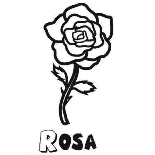 Dibujo para colorear de una rosa