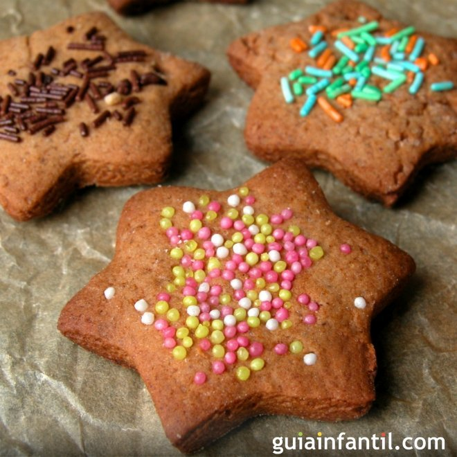 Estrellas de galleta de chocolate