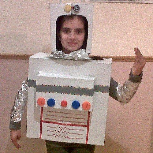Un disfraz de robot para los niños