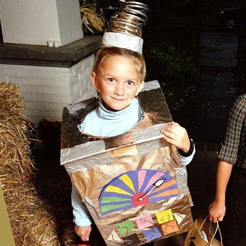 Un disfraz de caja sorpresa para los niños