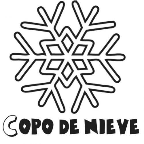 Dibujo de un copo de nieve para pintar  Dibujos para colorear del