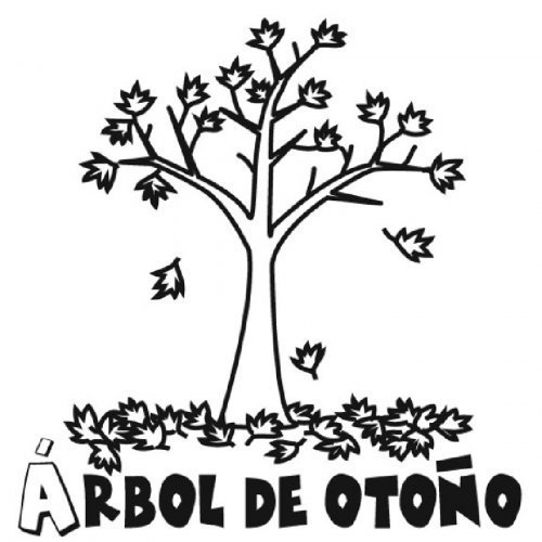 Dibujo de la estacin de otoo para imprimir y pintar  Dibujos